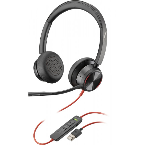 Plantronics/Poly Blackwire 8225 USB-A Corded Headset ANC