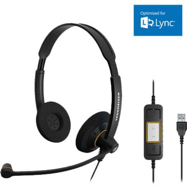 Sennheiser SC 60 USB ML Corded Headset - Microsoft Lync Certified