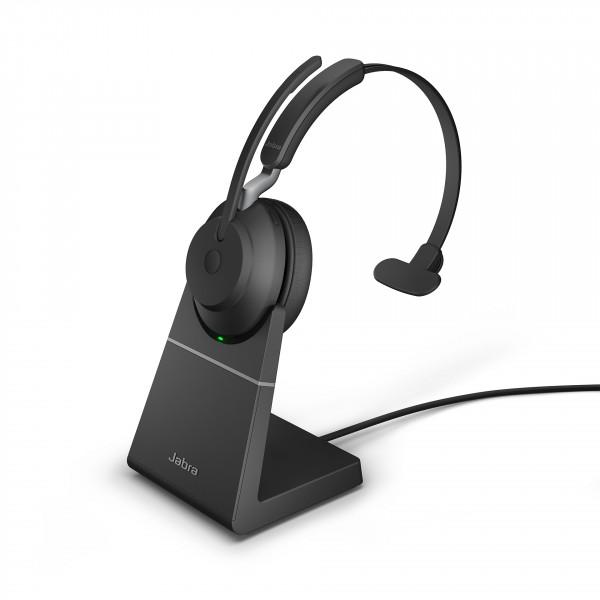 Jabra Evolve2 65 UC Mono + Charging Stand, USB-A, Black