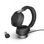 Jabra Evolve2 85 MS Stereo + Charging Stand, **USB-C**, Black