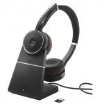 Jabra Evolve 75 Stereo UC Bluetooth ANC Headset + Charging Stand