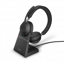 Jabra Evolve2 65 UC Stereo + Charging Stand, USB-A, Black