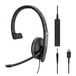 EPOS | Sennheiser SC 135 Mono **USB-C** and 3.5mm Corded Headset