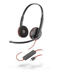 Plantronics/Poly Blackwire 3220 **USB-C**  Duo Corded Headsets