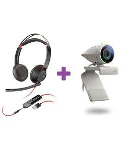 Poly Blackwire 5220 and P5 Webcam Bundle