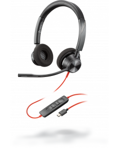 Plantronics/Poly Blackwire 3320-M Stereo **USB-C** Corded Headsets