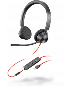 Plantronics/Poly Blackwire 3325-M UC, Stereo **USB-C**, 3.5mm Corded Headset