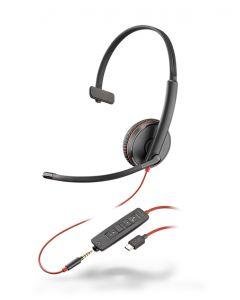 Plantronics/Poly Blackwire 3215 **USB-C**  & 3.5mm Corded Headset