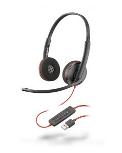 Plantronics/Poly Blackwire 3220 USB-A Duo Corded Headsets