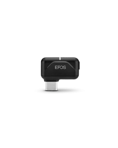 Image of EPOS BTD 800 **USB-C** Dongle showing the details and the EPOS logo.