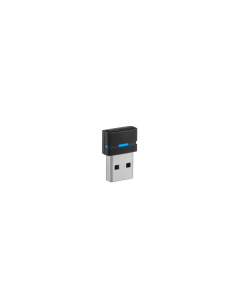 Image of EPOS|Sennheiser BTD 800 USB Dongle facing sideways with blue light.