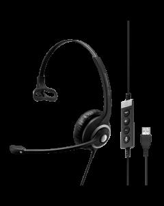 Image of EPOS|Sennheiser IMPACT SC 230 USB MS II Corded Headset showing the call controls.