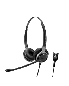 Image of EPOS|Sennheiser IMPACT SC 660 Corded Headset showing the side view angle with the easy disconnect cord.