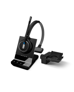 Image of EPOS|Sennheiser IMPACT SDW 5035 Mono Wireless Headset With HSL10 II Lifter showing the 3D side view of the headset with the lifter.