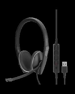 EPOS   Sennheiser SC 165 Stereo USB and 3.5mm Corded Headset