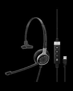 Image of EPOS | Sennheiser SC 630 USB CTRL Corded Headset showing the side call controls.