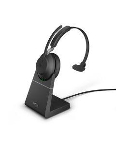 Jabra Evolve2 65 MS Mono + Charging Stand, USB-A, Black
