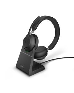 Jabra Evolve2 65 MS Stereo + Charging Stand, **USB-C**, Black