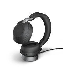 Jabra Evolve2 85 UC Stereo + Charging Stand,**USB-C**, Black