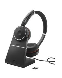Jabra Evolve 75 UC Stereo Bluetooth ANC Headset + Charging Stand