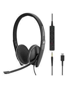 EPOS | Sennheiser SC 165 Stereo **USB-C**  and 3.5mm Corded Headset