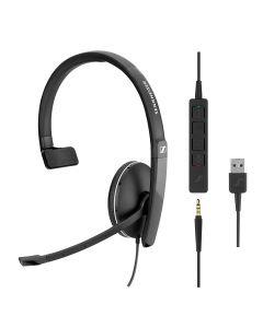 EPOS | Sennheiser SC 135 Mono USB and 3.5mm Corded Headset