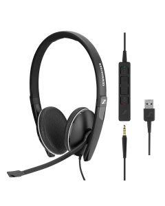 EPOS | Sennheiser SC 165 Stereo USB and 3.5mm Corded Headset