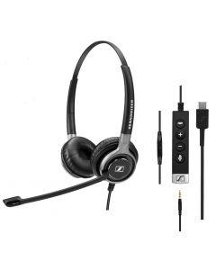 EPOS|Sennheiser IMPACT SC 665 Duo USB-C and 3.5mm Corded Headset