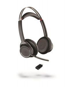 Plantronics/Poly B825 Voyager Focus **USB-C** (no desk charge cradle)