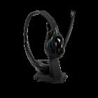 Image of EPOS Sennheiser IMPACT MB Pro 2 UC ML Bluetooth Headset with the headset mounted on the base.